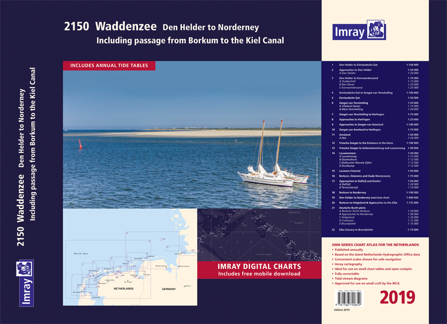 Imray 2150 - Wadden sea
